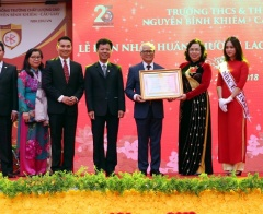 Trường Nguyễn Bỉnh Khiêm (Hà Nội) kỷ niệm 25 năm thành lập và đón nhận Huân chương Lao động hạng Nhì