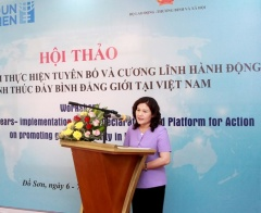 UN Women supports Vietnam's review on the implementation of Beijing +25