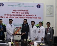 Bộ Y tế và Công đoàn Y tế Việt Nam kiểm tra công tác khám, chữa bệnh và động viên cán bộ y tế nhân dịp Tết Nguyên đán 2020