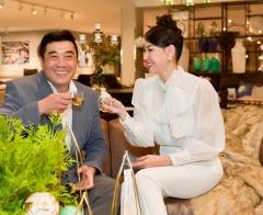 Hoa hậu Hà Kiều Anh làm MC, khoe giọng hát ngọt ngào