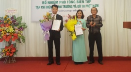 Nhà văn Đặng Vương Hưng được bổ nhiệm Phó Tổng biên tập Tạp chí điện tử Môi trường và Đô thị Việt Nam