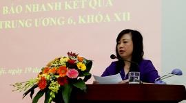 Đảng ủy Bộ LĐTB&XH tổ chức thông báo nhanh kết quả Hội nghị Trung ương 6