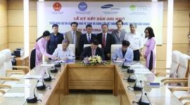Samsung hỗ trợ 6,7 tỷ đồng xây dựng hệ thống nhà vệ sinh tiêu chuẩn tại các trường học của tỉnh Bắc Giang