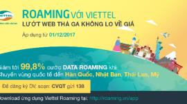 Đến Mỹ -Nhật – Thái - Hàn dùng Data Roaming Viettel với giá chỉ từ 400đ/MB