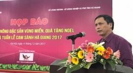 Hội chợ nông đặc sản vùng miền, quà tặng Noel diễn ra cuối tháng 12/2017 tại Hà Nội