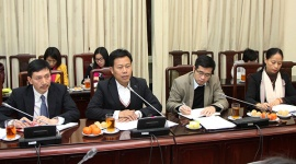 Deputy Minister Le Quan welcomed the delegation of Asian Development Bank