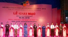 TP.HCM: Khai mạc Hội sách TP.HCM lần thứ X-2018