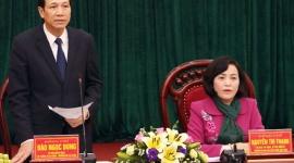 Bộ trưởng Đào Ngọc Dung làm việc với tỉnh Ninh Bình