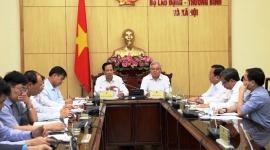 Bộ trưởng Đào Ngọc Dung làm việc với UBND tỉnh Sóc Trăng