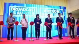 Khai mạc Triển lãm quốc tế về Phát thanh Truyền hình và Thiết bị nghe nhìn 2018 tại Hà Nội