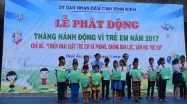 Bình Định: Ghi nhận một số kết quả trong công tác chăm sóc, bảo vệ trẻ em