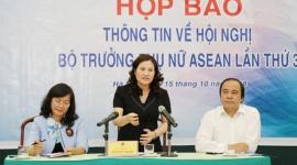 Họp báo thông tin về Hội nghị Bộ trưởng Phụ nữ ASEAN lần thứ 3