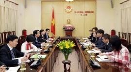 Bộ trưởng Đào Ngọc Dung tiếp Giám đốc Văn phòng ILO tại Việt Nam