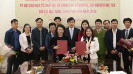 Hai Bộ ký kết dự phòng, cai nghiện ma túy đối với học sinh sinh viên