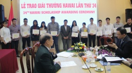 Trao học bổng Kawai lần thứ 34 cho sinh viên tiêu biểu