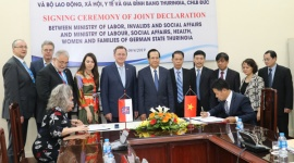 New joint statement between the Ministry of Labor, War Invalids and Social Affairs of Vietnam and State of Thuringia (Germany)