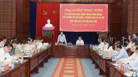 Bộ trưởng Đào Ngọc Dung: 'Tiếp tục đảm bảo an sinh xã hội gắn với phát triển kinh tế ở Bạc Liêu...'