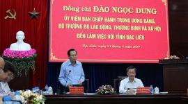 Bộ trưởng Đào Ngọc Dung thăm và làm việc tại tỉnh Bạc Liêu