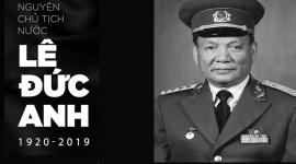 Quốc tang Nguyên Chủ tịch nước Lê Đức Anh diễn ra trong 2 ngày 03 - 04/5/2019