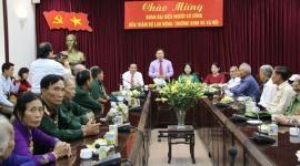Lãnh đạo Bộ Lao động-Thương binh và Xã hội tiếp đoàn người có công tỉnh Cà Mau