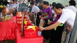 Hà Tĩnh truy điệu và an táng 7 hài cốt liệt sỹ quân tình nguyện và chuyên gia Việt Nam hy sinh tại Lào