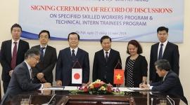 Ký kết Chương trình lao động kỹ năng đặc định và thực tập sinh kỹ năng tại Nhật Bản