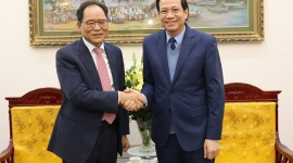 Minister Dao Ngoc Dung received the Korean Ambassador