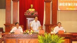 Bộ trưởng Đào Ngọc Dung thăm và làm việc tại tỉnh Tiền Giang