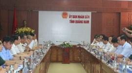 Bộ trưởng Đào Ngọc Dung thăm và làm việc tại tỉnh Quảng Nam