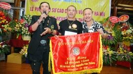 """Lễ phong """"Võ sư cao cấp"""" cho võ sư Nguyễn Văn Thắng"""