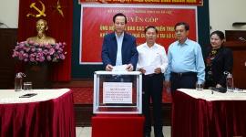 Bộ Lao động – Thương binh và Xã hội tổ chức lễ quyên góp ủng hộ đồng bào các tỉnh miền Trung bị thiên tai, bão lũ