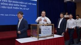 Cán bộ, nhân viên Tập đoàn Điện lực Việt Nam chung tay ủng hộ đồng bào Miền Trung khắc phục hậu quả thiên tai, lũ lụt