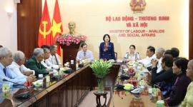 Bộ Lao động-Thương binh và Xã hội gặp mặt đoàn đại biểu người có công Trà Vinh