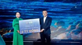 """Đêm nhạc """" Quy Nhơn Ngày Xanh Nắng"""" Tập đoàn Hưng Thịnh ủng hộ Quỹ Vì  người nghèo tỉnh Bình Định 1 tỷ đồng"""