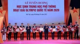 Lễ Tuyên dương học sinh THPT đoạt giải Olympic quốc tế năm 2020