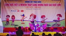 """Trao giải cuộc thi chung kết toàn quốc """"Cùng Đức Việt và Miwon thắp sáng những ngôi sao buổi sớm"""""""