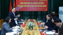 Thứ trưởng Lê Văn Thanh kiểm tra, nắm tình hình lao động, việc làm tại Bắc Giang