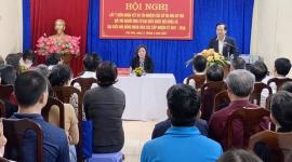 Bộ trưởng Bộ Lao động – Thương binh và Xã hội Đào Ngọc Dung tiếp xúc cử tri nơi cư trú