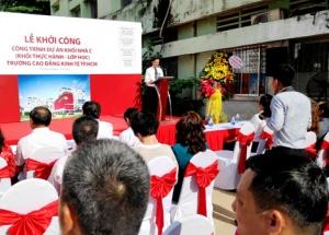 Trường Cao đẳng Kinh tế TPHCM: Khởi công và động thổ công trình xây dựng khối nhà C