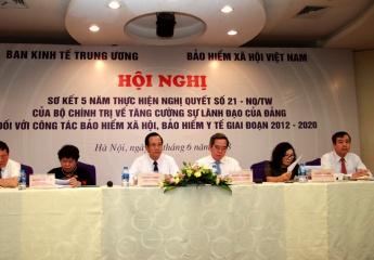 Bộ trưởng Đào Ngọc Dung dự Hội nghị sơ kết 5 năm thực hiện Nghị quyết 21-NQ/TW của Bộ Chính trị