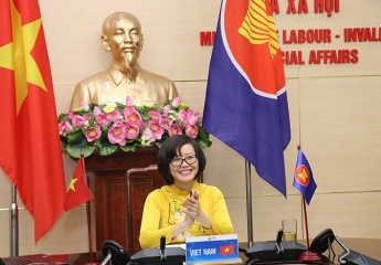 ASEAN Senior Officials Meeting on Social Welfare and Development was hold online