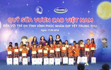 Quỹ Sữa Vươn cao Việt Nam và Vinamilk trao 66.000 ly sữa cho trẻ em tỉnh Vĩnh Phúc