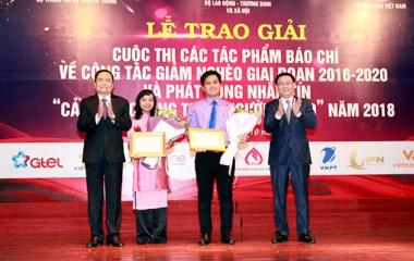 Tạp chí Lao động và Xã hội đoạt 2 giải Khuyến khích Cuộc thi viết về giảm nghèo