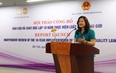 Công bố Báo cáo rà soát độc lập 10 năm thực hiện Luật bình đẳng giới