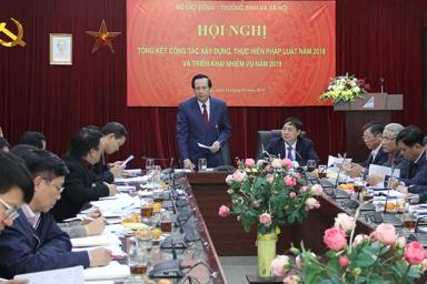 Bộ Lao động, Thương binh và Xã hội tổng kết công tác xây dựng, thực hiện pháp luật