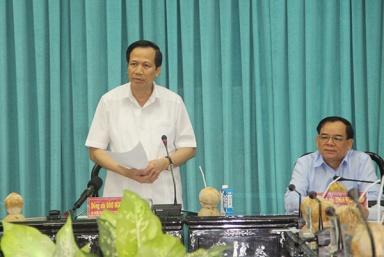 Bộ trưởng Đào Ngọc Dung thăm và làm việc tại tỉnh Bến Tre