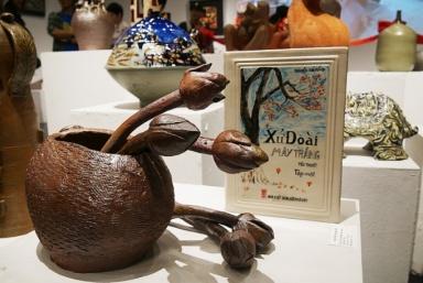 """75 tác phẩm gốm được trưng bày tại Triển lãm mỹ thuật """"Sắc Hạ"""""""