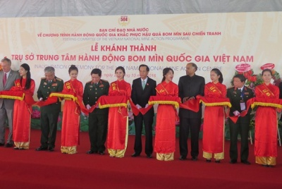 The inauguration ceremony of  Vietnam National Mine  Action Centre in Hanoi