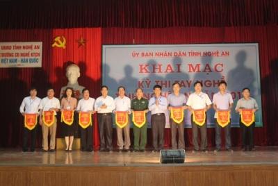 Nghệ An: Khai mạc kỳ thi tay nghề cấp  tỉnh năm 2017.