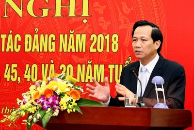 Đảng bộ Bộ Lao động – Thương binh và Xã hội triển khai công tác Đảng năm 2018